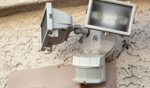 outside security light installation